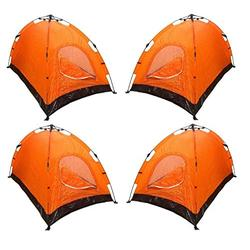 4 Tents 2-Person Tent Orange Tents for Camping Beach Tent Canopy Tent Camping Tent Pop up Tent Camping Supplies Camping Tents Camping Tents & Shelters Camping Accessories Tents for Camping Waterproof