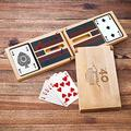 Personalized Wood Cribbage Game Set for Anniversary, Cribbage Game for Him, Anniversary Gift for Boyfriend
