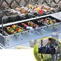 Foldable BBQ - Outdoor Portable Camping Barbecue Charcoal Picnic Head Compact Black BBQ Cooker for Outdoor Campers BBQ Enthusiasts Travel Park Beach and Wild