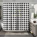 DESIHOM Buffalo Plaid Shower Curtain Black and White Shower Curtain Farmhouse Style Shower Curtain Country Shower Curtain Polyester Waterproof Shower Curtain 72x72 Inch