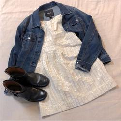 Nine West Jackets & Coats   Nine West Jeans Denim Jacket Sz L   Color: Blue   Size: L