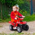 Huassa Children Electric Ride-on Four Wheel Beach Motorcycle LED Lights SoundsMetal in Green/Red, Size 16.0 H x 14.0 W x 25.0 D in   Wayfair