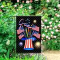 The Holiday Aisle® Celebrate Patriotic Independence Fireworks USA Memorial Day Fourth Of July Celebration Garden Flag For Outdoor Home Garden Flower Pot Decor