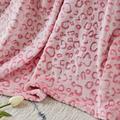 East Urban Home Flannel Fleece Throw Blanket, Lightweight Cozy Plush Microfiber Bedspreads For Adults,brown LeopardFleece & Microfiber in Pink