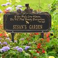 Whitehall Products Dragonfly Quote Personalized Garden Sign Metal, Size 16.63 H x 10.0 W x 4.5 D in | Wayfair 1705BG