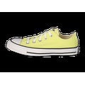 Baskets Converse Chuck Taylor All-star Lo Femme Jaune