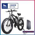VOZCVOX – vélo électrique tout-terrain 1000W 48V, 26 pouces, pneus larges 4.0, avec siège arrière