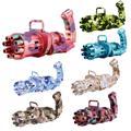 Gatling – pistolet à bulles automatique pour enfants, Machine à bulles d'eau et de savon, forte