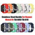 Bracelet en Silicone avec boucle en acier inoxydable pour montre Huawei, nouveauté