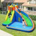 "Oriufas Studio 13'1"" x 9'10"" Bounce House w/ Water Slide & Air Blower in Blue/Green | Wayfair OS.NBKF020177-01"