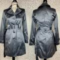 Jessica Simpson Jackets & Coats | Jessica Simpson Satin Gray Trench Coat | Color: Gray | Size: L