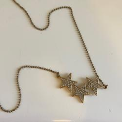 J. Crew Jewelry | J. Crew Star Necklace | Color: Gold | Size: Necklace Length Is Adjustable