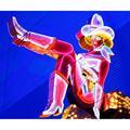 Latitude Run® Las Vegas Cowgirl, Las Vegas Nevada - Wrapped Canvas Photograph PrintCanvas & Fabric in Brown, Size 20.0 H x 1.5 D in   Wayfair