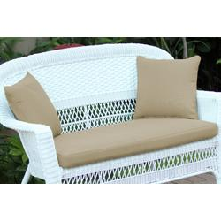Tan Loveseat Cushion With Pillows- Jeco Wholesale FS006-CL