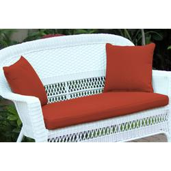 Brick Red Loveseat Cushion With Pillows- Jeco Wholesale FS018-CL