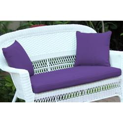 Purple Loveseat Cushion With Pillows- Jeco Wholesale FS031-CL