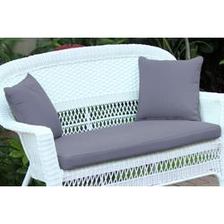 Steel Blue Loveseat Cushion With Pillows- Jeco Wholesale FS033-CL