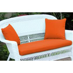 Orange Loveseat Cushion With Pillows- Jeco Wholesale FS016-CL