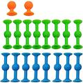 Sucker Toys 2021 Popular,Pop Sucker Toys,Soft Silicone Building Blocks Suckers Toy,Super Popular Family Interactive Toy-Release Stress (1/2SETS)-2set