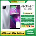 Realme – Smartphone realme 7i MTK Helio G85, Version globale, 4 go de RAM, 64 go de ROM, écran 6.5
