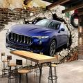Custom Photo Wallpaper 3D Stereo car Broken Wall Mural Retro Personality Restaurant KTV Art Background Wall mural-350cmX245cm
