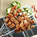 "WHEEJE 6/10/12PCS 40cm/15.7"" Barbecue Needle Meat BBQ Skewers Stainless Steel Flat Kebob Grill Sticks Camping Tool BBQ Accessories (Color : 12PCS)"