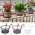 3pcs Flower Pot Stand, Plant Stand Metal, Plant Holders,Hanging Planters,Wrought Iron Flower Stand Wall-Mounted Flower Pot Shelf, Detachable Hook Pots, Fence Balcony Garden Decor,221717.5cm