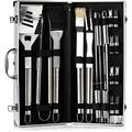 BBQ Grill Tools Set, with Barbecue Accessories - Outdoor Grilling Kit Barbecue Grill Utensils Grill Stainless Steel Grilling Tool 20Piece