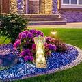 VALINK Praying Angel Welcome Statue Solar Powered LED Outdoor,Decor Garden Light Guardian Angel Garden Resin Statue Solar Light