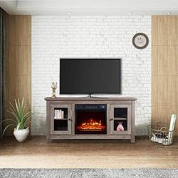 """MTFY Fireplace TV Cabinet for TVs up to 51 Inches, 51"""" TV Stand Media Console Table w/Fireplace, 1400W Electric Fireplace TV Storage Cabinet w/Remote Control for Home Living Room Bedroom"""