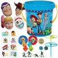 Party City Ultimate Toy Story 4 Party Favors for 8 Guests, 128 Pieces, Includes Favor Containers, Masks, Tattoos, Favors