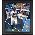 """""""- Limited Edition of 500 Randy Arozarena Tampa Bay Rays Framed 15"""""""" x 17"""""""" Impact Player Collage with a Piece Game-Used Baseball"""""""