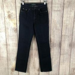 Ralph Lauren Jeans | Lrl Dark Blue Stretch Denim Straight Jeans Sz 2 | Color: Blue | Size: 2