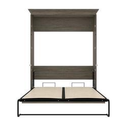 Mercury Row® Harvill Queen Low Profile Murphy Bed Wood in Gray, Size 88.9 H x 22.6 W x 69.4 D in | Wayfair 42184-000035