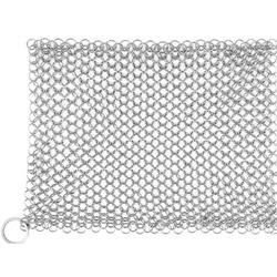 """Amagabeli 8"""" X 8"""" 316 Stainless Steel Cast Iron Cleaner Chainmail Scrubber For Cast Iron Pan Skillet Cleaner For Dishes Glass Pre-Seasoned Cast Iron Pot Seasoni"""
