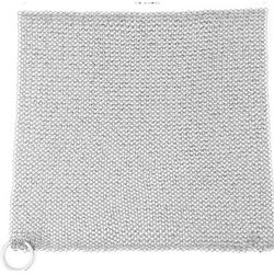 """Amagabeli 10""""X10"""" Cast Iron Cleaner Mesh Premium 316 Stainless Steel Small Rings w/ 3.8Mm Opening Chainmail Scrubber For Cast Iron Pans Pre-Seasoned Pan Dutch"""