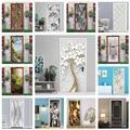Papier peint auto-adhésif en PVC pour porte, autocollant Mural amovible en vinyle, décoration de