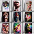 Peinture sur toile de femme abstraite, Graffiti, affiches et imprimés d'art moderne, tableau d'art