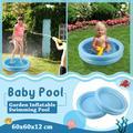 Piscine gonflable d'été pour bébé, jouet pour enfant, pataugeoire, bassin rond, baignoire, Portable,