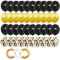 Ballons confettis en Latex or noir, 40 pièces, 12 pouces, pour adultes, pour hommes et femmes,