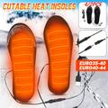 Semelles chauffantes électriques 5V, 4/2 pièces, pour Camping, chauffe-pieds, chargeur USB, semelles
