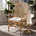 Baxton Studio Delta Modern and Contemporary Natural Finished Rattan Armchair - Wholesale Interiors Delta-Natural-CC