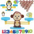 Jouet éducatif de maths Montessori, équilibre entre personnages et chiffres, jeu de société, jouets