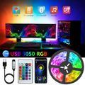 LED Bande 5V USB Flexible Rétro-Éclairage TV Lampe 5050 Bande rvb Diode Téléphone Bluetooth APP Fond