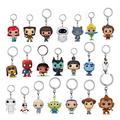 Porte-clés Disney en vinyle, jouets de poche, personnages Elsa, Anna, Woody, Buzz l'éclair, cadeau