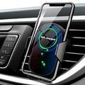 Wireless Car Charger Mount- Phone Holder for Car Wireless Charger-Wireless Phone Charger for car- Qi Car Charger 15W/10W/7.5W/5W, Auto-Clamping, Air Vent Clip, Fast Charging, Black