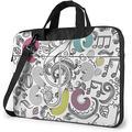 "Barber Haircut Music Note Laptop Messenger Bag Laptop Carrying Shoulder Handbag Notebook Case Briefcase With Strap 14"""