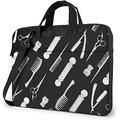 "Barber Shop Professional Haircut Tools Laptop Messenger Bag Laptop Carrying Shoulder Handbag Notebook Case Briefcase With Strap 15.6"""