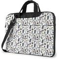 """Barber Tools Laptop Messenger Bag Laptop Carrying Shoulder Handbag Notebook Case Briefcase With Strap 15.6"""""""