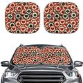 JoyLamoria Red Car Windshield Sun Shade for Stylish, Lightweight Car Windshield Sun Shade Glitter Front Window Mat, Playing Cards Print